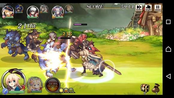 △こちらがバトル画面。ラインを使って相手の攻撃をやりすごしつつ闘うアクションRPGです。