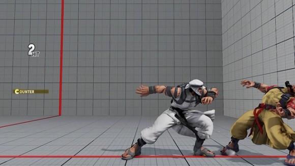 △小技がカウンターヒットしていたら立ち中Pが繋がるので、確認してしゃがみ中K【C】スピニングミキサーやイーグルキックへ。