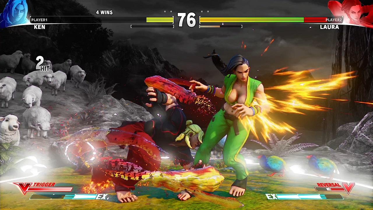 △ケンは、攻めの選択肢が豊富で、連続技も爽快感抜群。やりこみ要素も幅広いキャラクターになっています。
